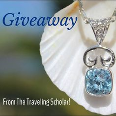We are so excited to announce our Giveaway with @lavidashannon and The Traveling Scholar Blog starts today! Check out her blog at www.thetravelingscholar.com and you could win our Jost Van Dyke Pendant in the stone of your choice! #travel #giveaway #win #pendant