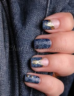 jean, denim zipper, zipper nail, nails denim, denim nail, nail arts, nail design