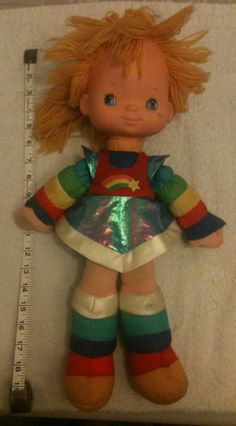 "Very Rare Vintage Rainbow Bright Doll 19"" Tall 1983"
