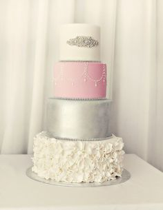 PRETTY CAKE from this Sweet 16 Birthday Party with Such Beautiful Ideas via Kara's Party Ideas KarasPartyIdeas.com #sweetsixteen #weddingreception #tweenbirthdayparty #wedding #partydecor #partyideas (47)