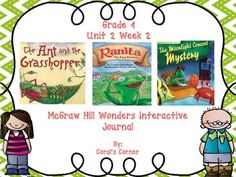 This 4th grade interactive journal is aligned to Common Core and to the McGraw Hill Wonders series for Unit 2-Week 2. This highly INTERACTIVE journal is ideal for teaching all of this week's skills in a powerful, student-friendly way!