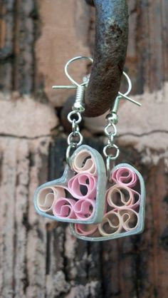 Paper Quilled Earrings Sweetheart Filigree by SweetheartsandCrafts