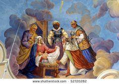 nativity scenes pictures | Nativity Scene, Adoration Of The Magi Stock Photo 52720282 ...