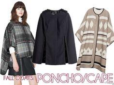 Fall Coats: Poncho/Capes