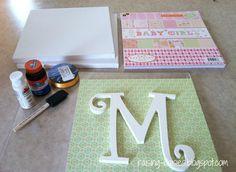 Raising Daisies: DIY Nursery Wall Letters