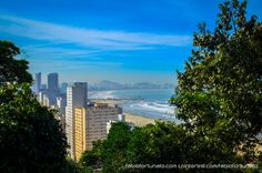 Vista parcial da orla de Santos à partir do Teleférico de São Vicente - SP by Fabio Fortunato on 500px