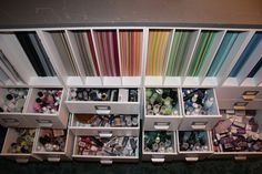 scrap book orginazation ideas room pics - Bing Images. Drool!!! If only!!!  OMG!.. I could get it organized this way.. TRICK for it to STAY this way..!