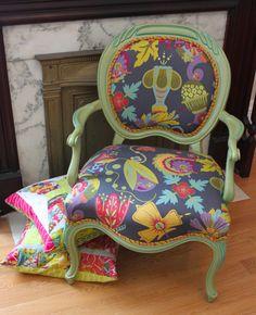 Alison Glass refurbished chair DIY