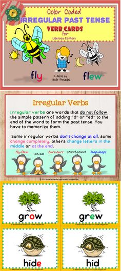 GRAMMAR Resources- Are you ready to teach irregular verbs to your kiddos?