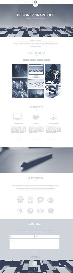 Parallax scrolling responsive one page portfolio for designer Youssef Habchi. Like how the logo tucks away as you scroll down.