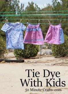 Tie Dye with Kids