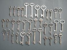 Keys to the Kingdom  36 x Antique Silver Vintage by thejourneysend, $16.00