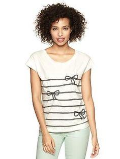 bow stripe t (Gap) = easy diy