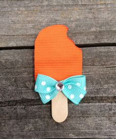 Popsicle Ribbon Sculpture Hair Clip - Toddler Hair Clips - Summer Hair Bows - Girls Hair Accessories.. Free Shipping Promo