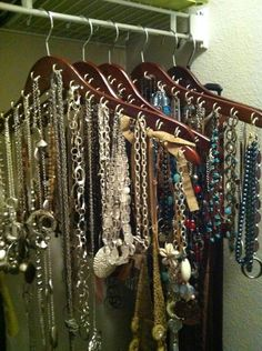 DIY necklace hangars.