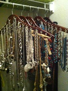DIY necklace hangars.