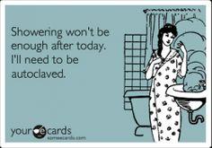 A nurse's shower. #Autoclave #Nurses #NurseHumor