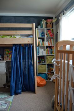 Shared Kids Room by Meg Padgett from Revamp Homegoods www.revamphomegoods.com shared kids rooms, kid bedroom, share kid, kid rooms, kid stuff