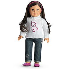 American Girl® Clothing: Sweet Sugar Outfit + Charm