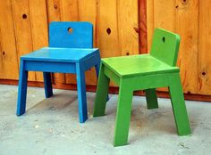 Thumb chairs to go with the arts and craft table