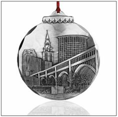 Jim Ptacek's newly released Christmas ornaments and rare collector's images of the old Municipal Stadium that include actual pieces of bleacher seats. Available at Gallery One (@NorahandPete Hopkins Lynne Brown). Via @- Lake County Ohio Visitors Bureau