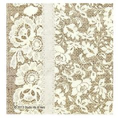 Who says style has to be pricy? Our burlap and lace napkins have a high-class look for a DIY budget!