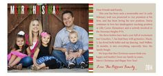Idea for Christmas Photo Card Pose - Find a cool door or wood background and sit everyone on the ground.