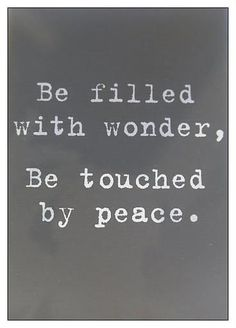 I'd like to see the world at peace. I plan to help inspire people to be at peace with one another.