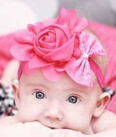 Baby Headband  Headband  Flower Headband  by BlissfulBowtiqueLLC
