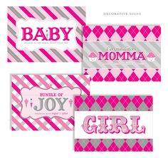free printables for baby girl shower