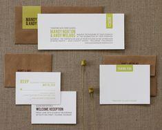 rustic elegant letterpress wedding invitation | SWEET letterpress & design