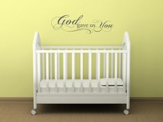 God gave us you Vinyl Lettering wall words by itswritteninvinyl, $12.00