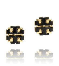 Tory Burch earrings in gold and black
