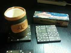Coasters. Using old dominos. Easy.