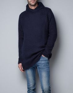 Men's outfit. Zara man. Jersey azul y vaqueros. Look casual. Blue pullover and jeans. Bleu. Bagatelle Marta Esparza Otoño. Autumn. https://www.facebook.com/bagatelleoficial #outfit #man #hombre