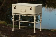 I love this idea, love old suitcases and trunks to repurpose as furniture :)