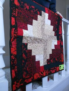 Royal Red  Baby Quilt Play Mat or Lap Quilt  by UglyDucklingStudio, $25.00