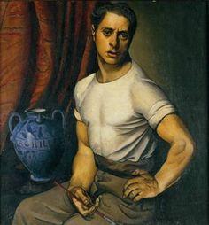 Achille Funi, Self-Portrait, 1920 - A retro Robert Downey Jr