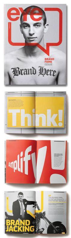 "print design / layout | ""Eye"" magazine"