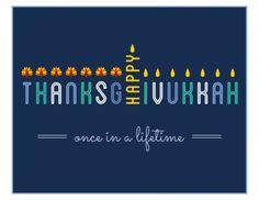 "Ha ha ha!  Awesome Hanukkah sign - ""Thanksgivukkah"""