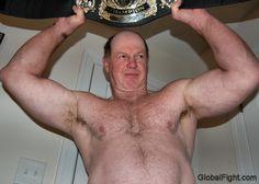 big powerfull wrestling man
