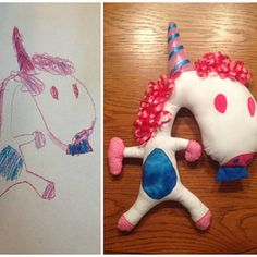 Turn one of her drawings into a custom toy for just $35.