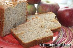 Homemade apple Cider bread Machine Mix- A hearty loaf of Apple Cider bread, lightly sweetened with honey, enhanced with a touch of cinnamon and bits of apple.