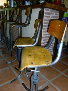 tabouret bar on pinterest industrial bar stools stools. Black Bedroom Furniture Sets. Home Design Ideas
