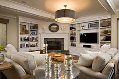 living rooms, famili, fireplace design, basement, family rooms, corner fireplaces, live room, light, furniture placement