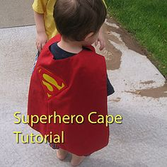 Superhero Capes for N's party!