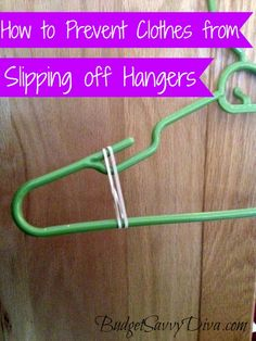 How to Prevent Clothes from Slipping off Hangers
