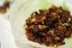 Copycat recipe for P. F Chang lettuce wraps.