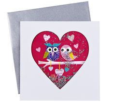 Pier 1 Owl Heart Card is a fun way to express matters of the heart pier1, craft, lovin owl, favorit thing, owl heart, card 5x5, owls, favorit pier, heart cards