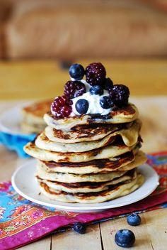 Chobani Greek Yogurt Pancakes via @Julia